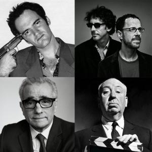 Directors Tarantino, Coen, Scorsese and Hitchcock