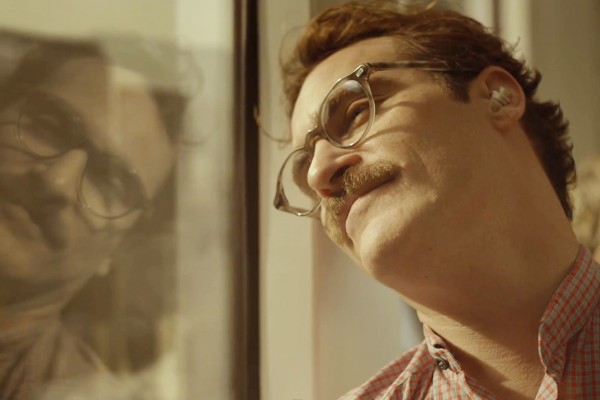 Joaquin Phoenix gazing in the mirror