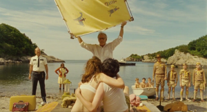 Discovery of the young couple at Moonrise Kingdom