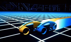 The famous racing cars from Tron