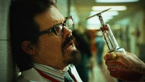 Josh Brolin plays a zombie doctor in Planet Terror