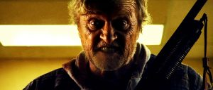Rutger Hauer in the never should have been made film Hobo With a Shotgun